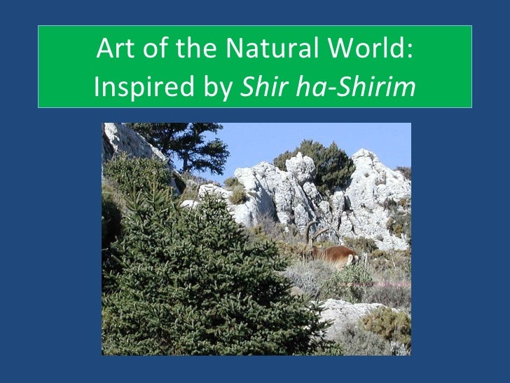 Art of the Natural World: Inspired by  Shir ha-Shirim