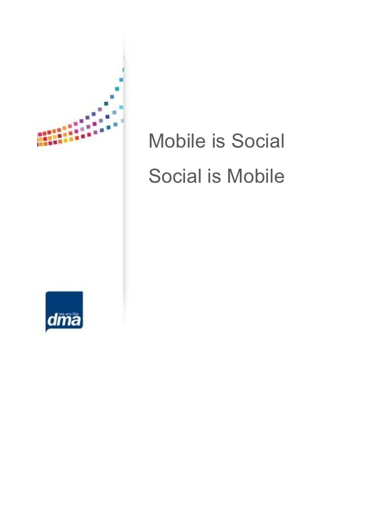 Mobile is SocialSocial is Mobile