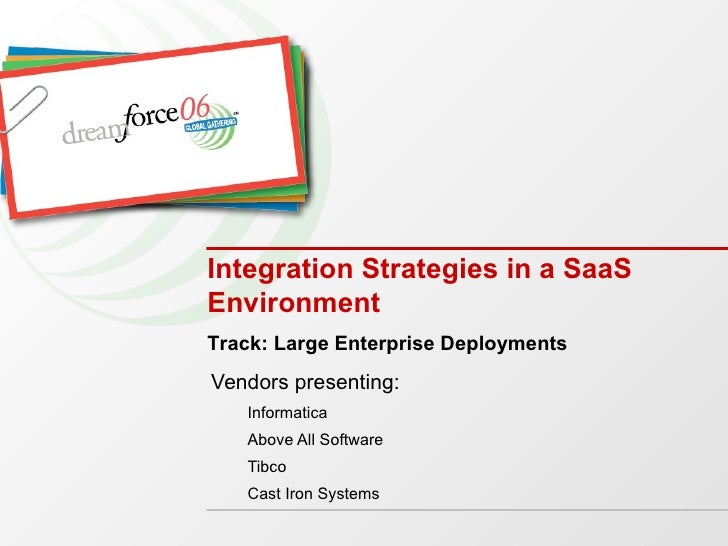 Integration Strategies in a SaaS Environment