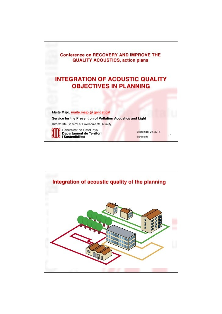 Integration of Acoustic Quality Objectives in Planning - Maite Majó [en]