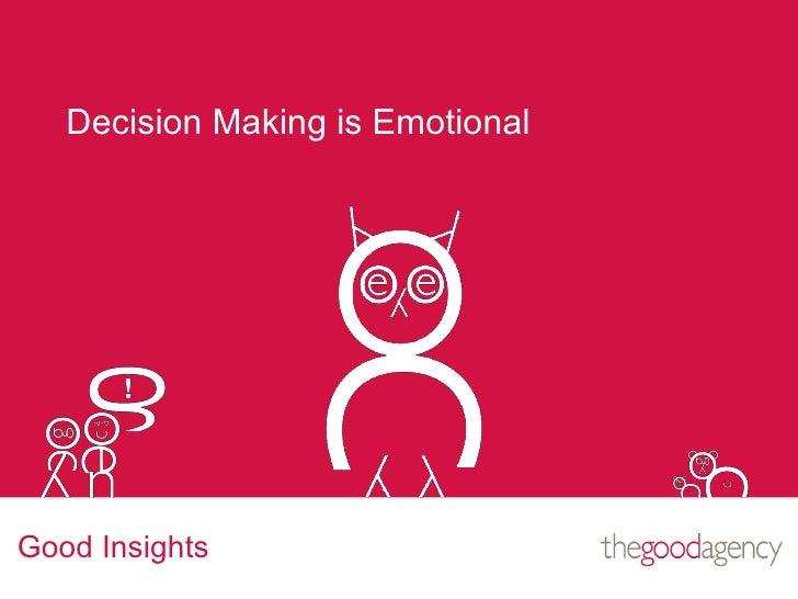 Integration Afternoon (4 of 7) Emotional decision making 06 july 2010