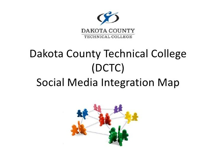 Integration map of DCTC Marketing and Sales Program social media accounts