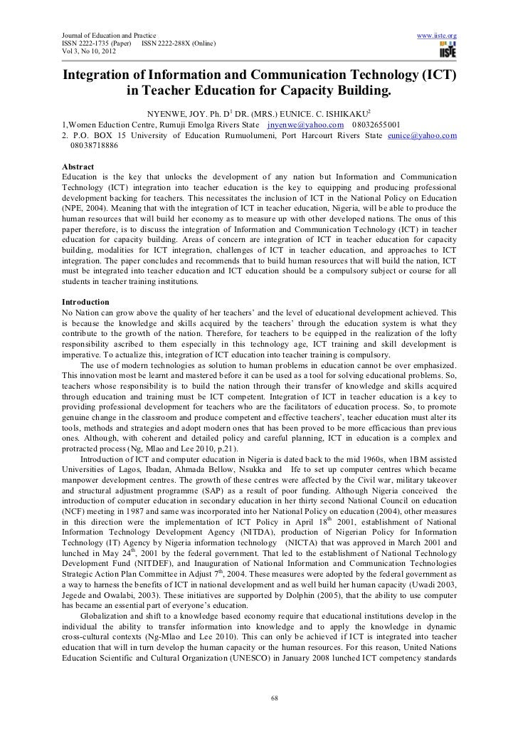 Journal of Education and Practice                                                                    www.iiste.orgISSN 222...