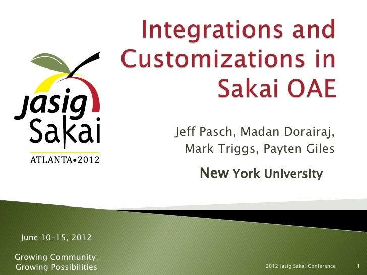 Jeff Pasch, Madan Dorairaj,                          Mark Triggs, Payten Giles                            New York Univers...