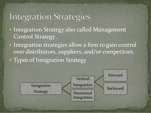 intensive strategies integration and diversification strategies Integration strategies as means of expansion strategies tour wholesaler or tour operator can strengthen their market position by integration integration takes place.