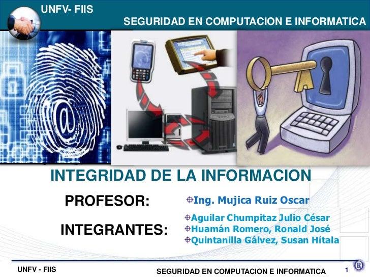 Integridad de la información final