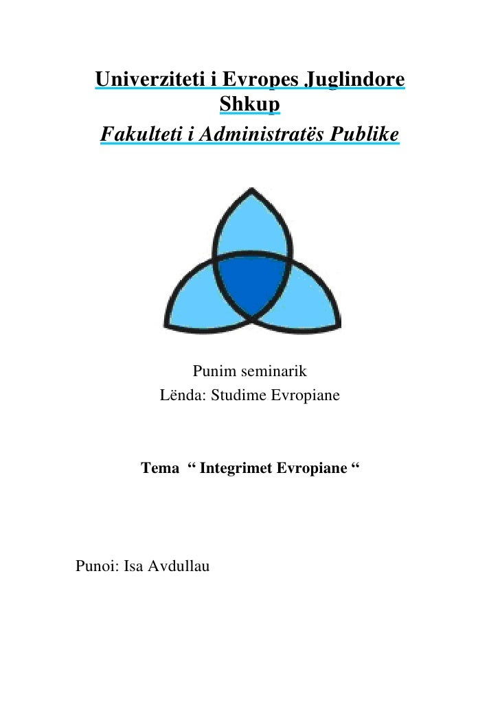 Univerziteti i Evropes Juglindore                 Shkup   Fakulteti i Administratës Publike                    Punim semin...