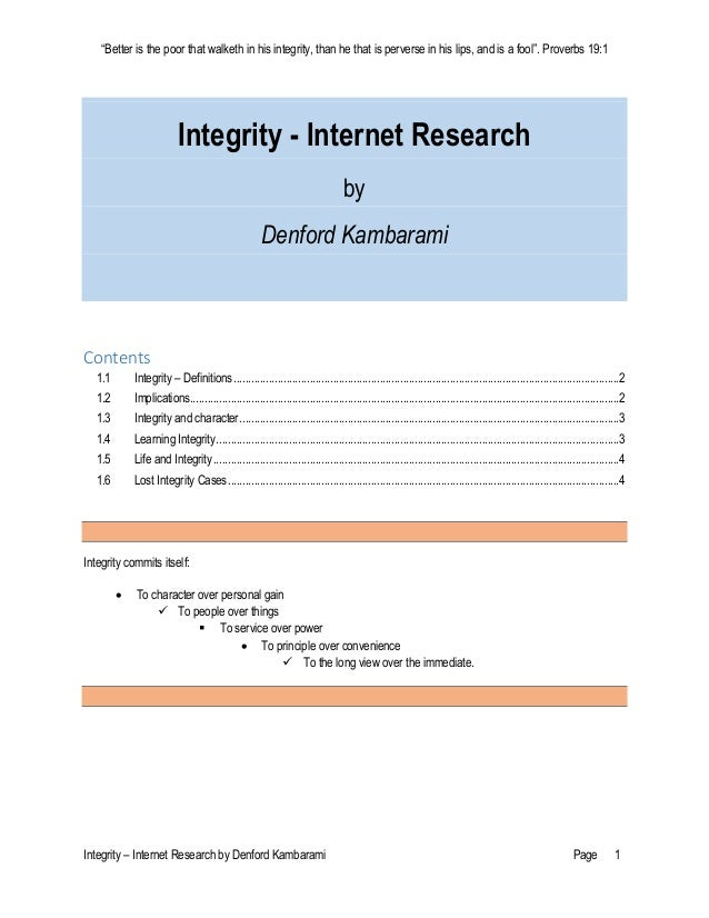 Integrity research