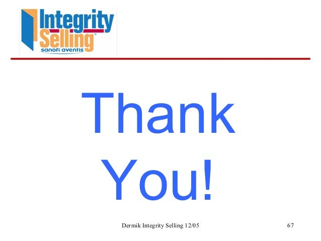 integrity selling for the 21st century Integrity selling is a comprehensive sales solutions that is geared towards  improving the customer selling skills of your employees.