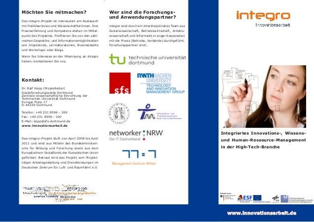 Möchten Sie mitmachen? Das integro-Projekt ist interessiert am Austausch mit PraktikerInnen und WissenschaftlerInnen. Ihre...
