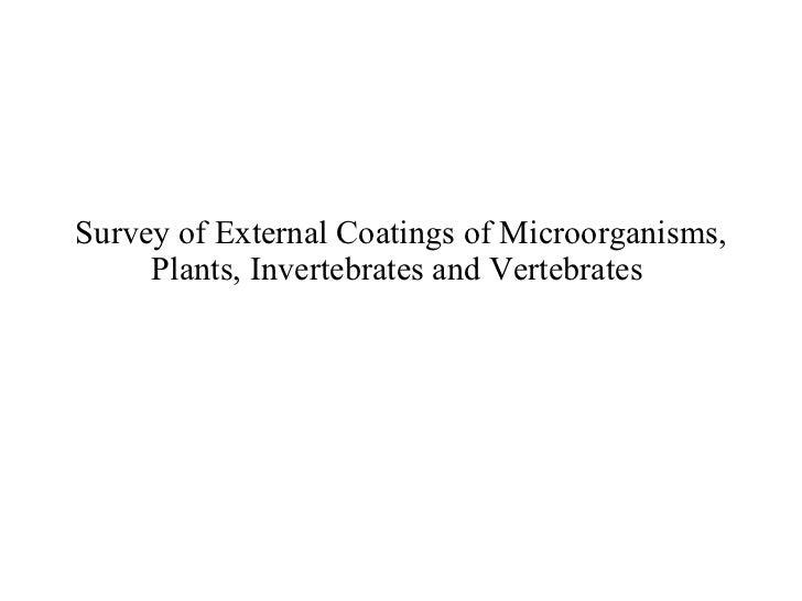 Survey of External Coatings of Microorganisms, Plants, Invertebrates and Vertebrates