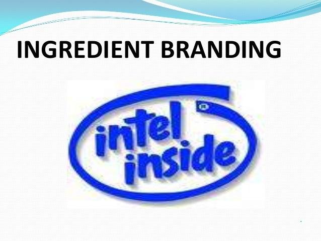 Intel ingredient branding