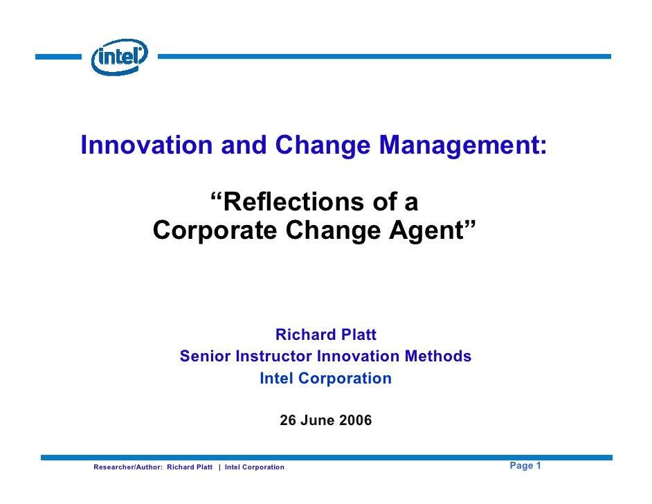 Intel Corporate Change Agent