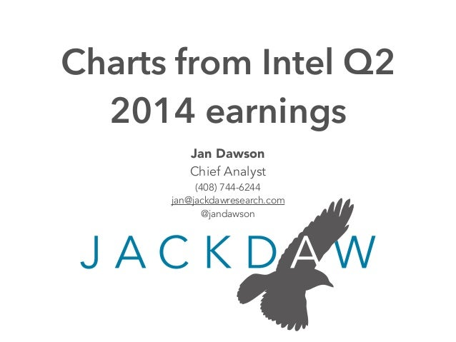 Intel Q2 2014 Earnings Charts
