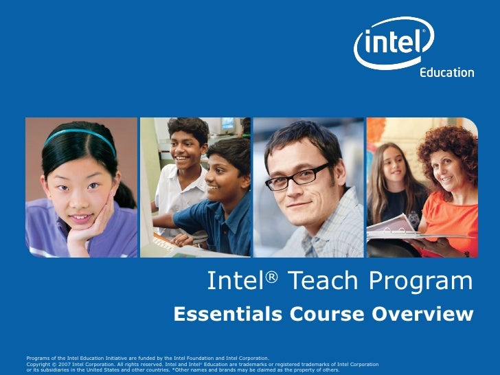 Intel Essentials Course Overview9 09