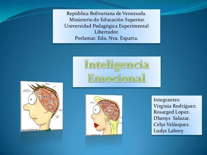 República Bolivariana de Venezuela.  Ministerio de Educación Superior.Universidad Pedagógica Experimental             Libe...