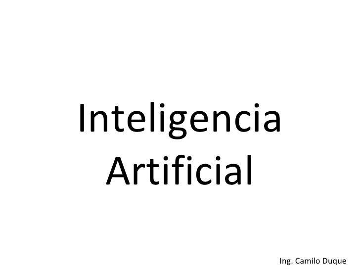 Inteligencia Artificial Clase 1