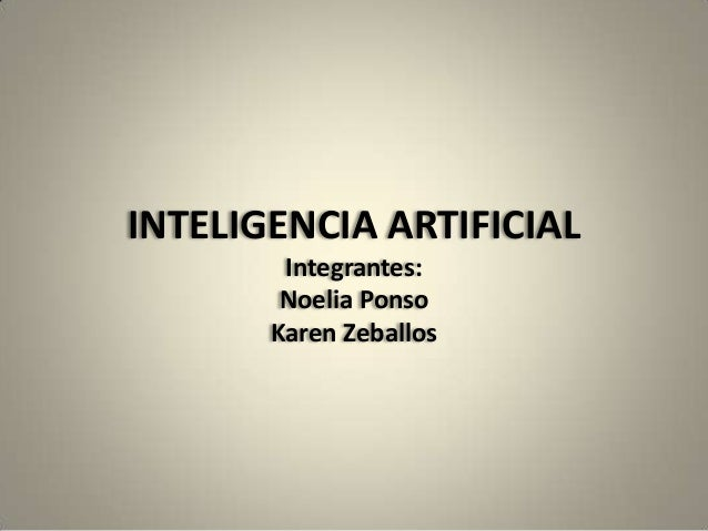 Inteligencia artificial zeballos ponso