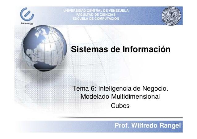 Sistemas de Información UNIVERSIDAD CENTRAL DE VENEZUELA FACULTAD DE CIENCIAS ESCUELA DE COMPUTACION ´ Tema 6: Inteligenci...