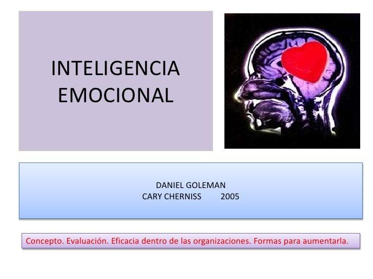 INTELIGENCIA       EMOCIONAL                                 DANIEL GOLEMAN                              CARY CHERNISS   2...