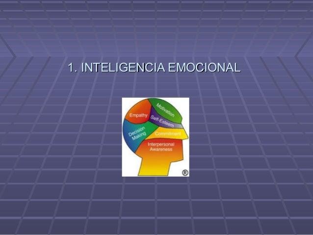 1. INTELIGENCIA EMOCIONAL