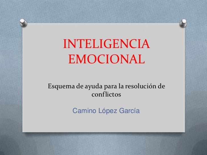INTELIGENCIA EMOCIONALEsquema de ayuda para la resolución de conflictos<br />Camino López García<br />