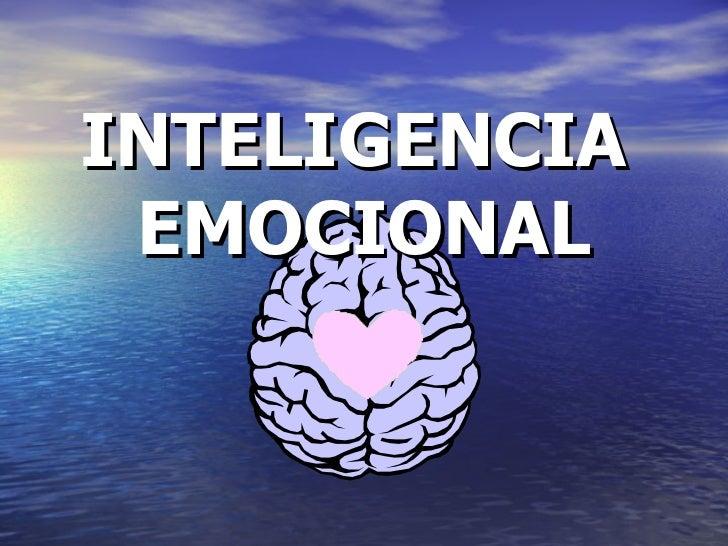 Inteligencia emocional ppt