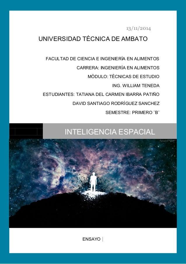 13/11/2014  UNIVERSIDAD TÉCNICA DE AMBATO  FACULTAD DE CIENCIA E INGENIERÍA EN ALIMENTOS  CARRERA: INGENIERÍA EN ALIMENTOS...