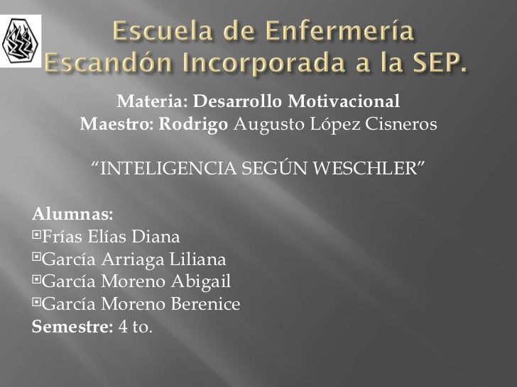 """<ul><li>Materia: Desarrollo Motivacional </li></ul><ul><li>Maestro: Rodrigo  Augusto López Cisneros </li></ul><ul><li>"""" IN..."""