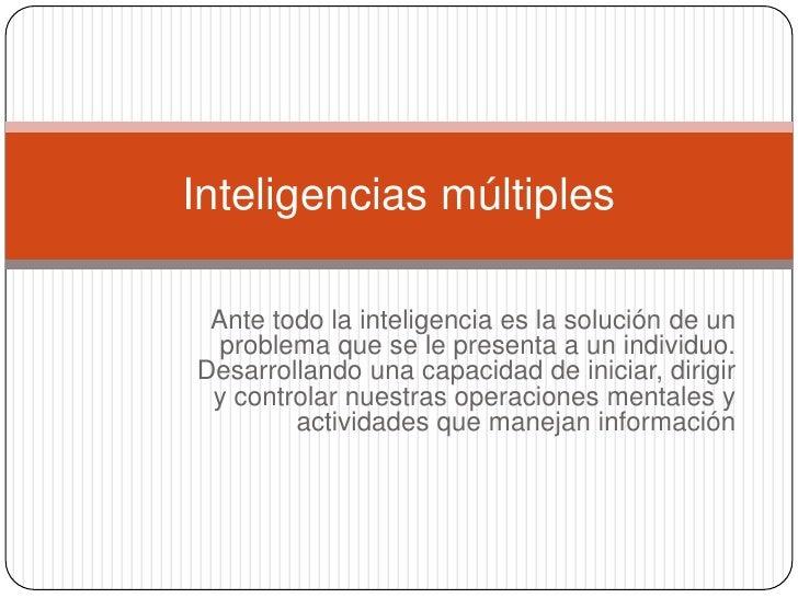 Inteligencias múltiples brian