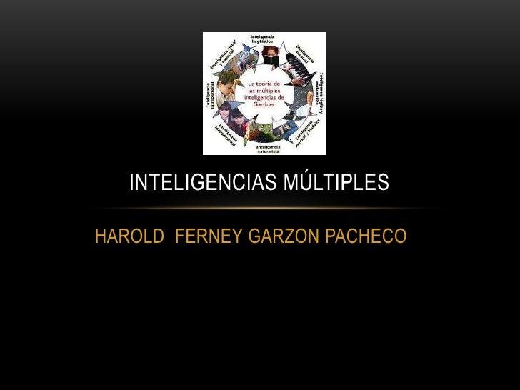 Inteligencias múltiples harold garzon