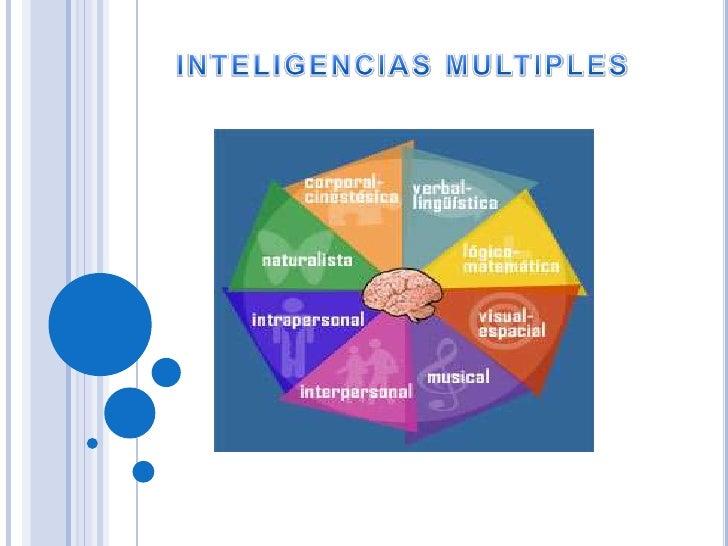 INTELIGENCIAS MULTIPLES<br />
