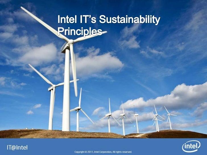 Intel IT Sustainability Principles