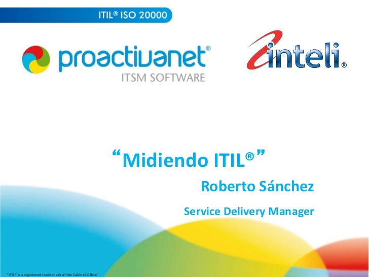 """Midiendo ITIL®""                                                                                                      ..."