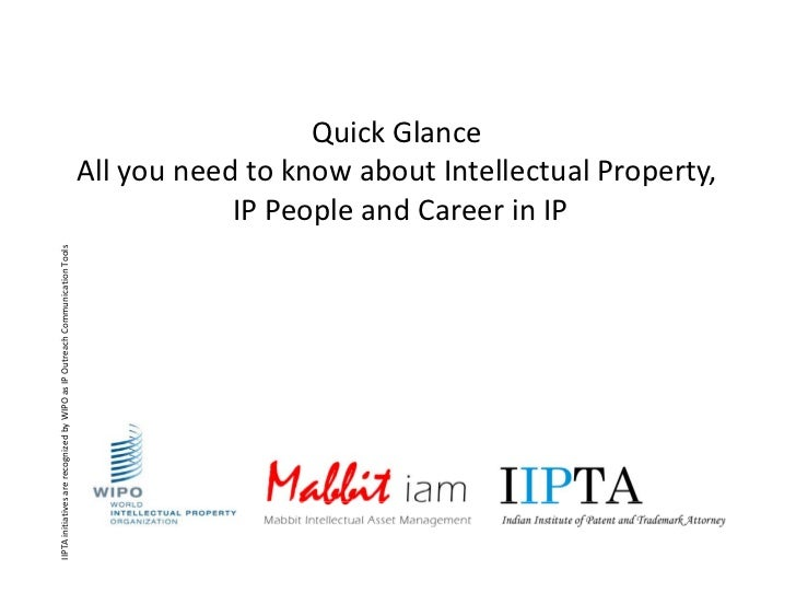 Introduction Intellectual property and IP career