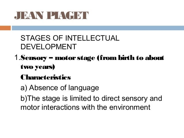 the stages of intellectual development Healthy children  ages & stages  preschool  cognitive development in  but if you have any questions or concerns about your three-year-old's development, you.