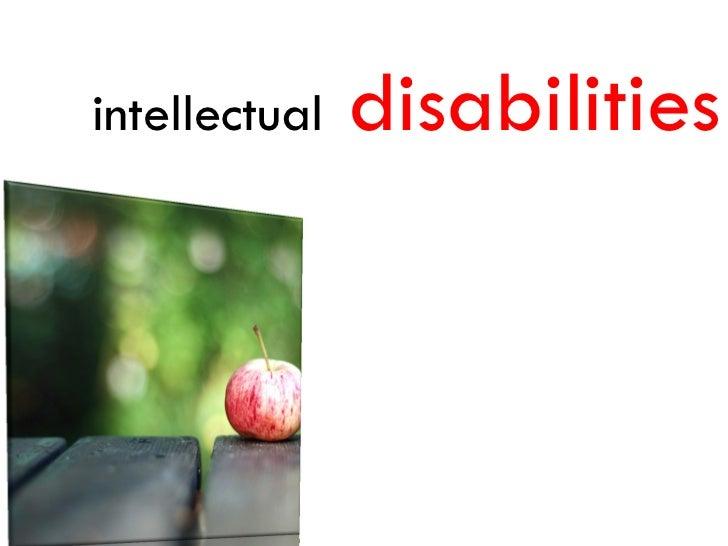 intellectual   disabilities