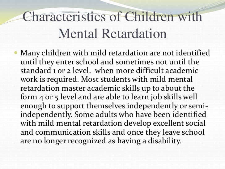 Shine Absolutely Adult mild mental retardation rather congratulate