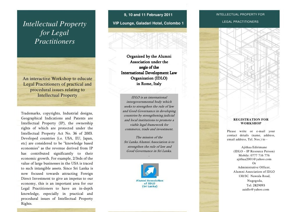 9, 10 and 11 February 2011            INTELLECTUAL PROPERTY FOR                                                           ...