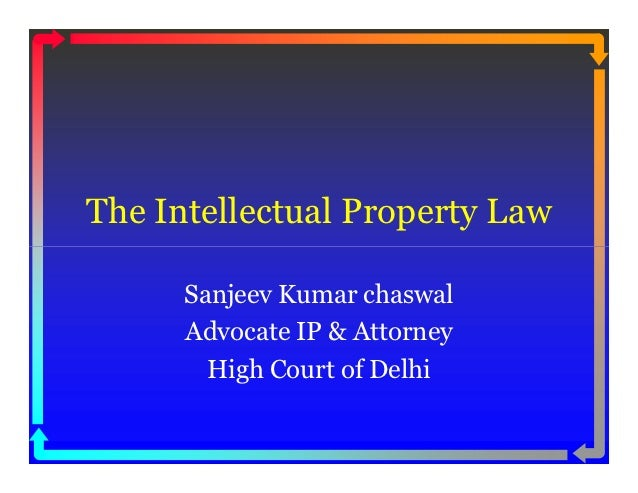Intellectual property law [compatibility mode]