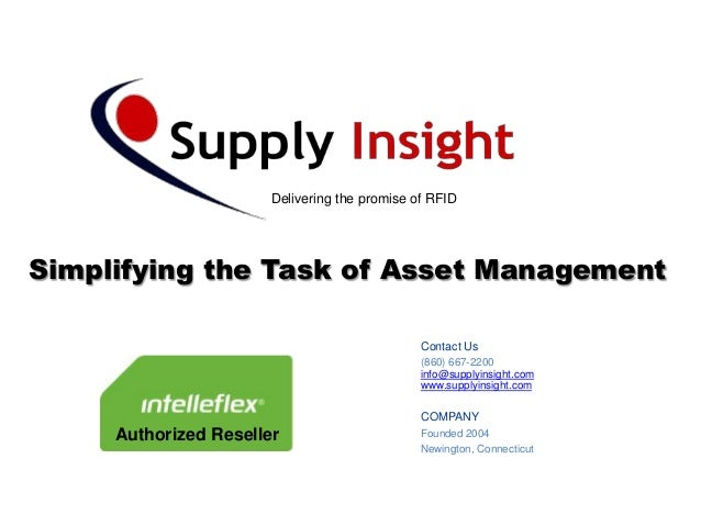 Delivering the promise of RFIDSimplifying the Task of Asset Management                                               Conta...