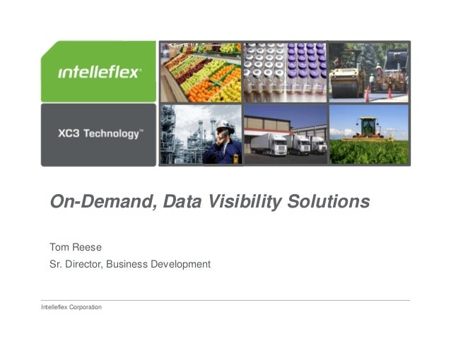On-Demand, Data Visibility Solutions   Tom Reese   Sr. Director, Business Development  SHM PowerPoint Template Guidelines ...