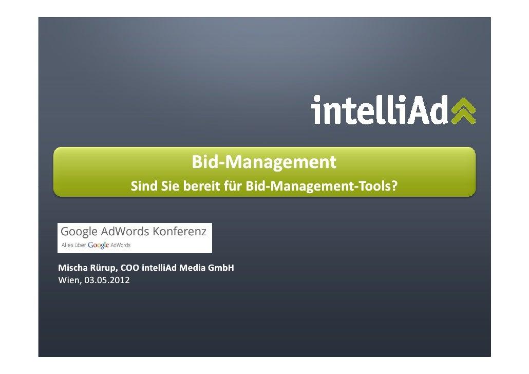 Bid-Management                            Bid-               Sind Sie bereit für Bid-Management-Tools?                    ...