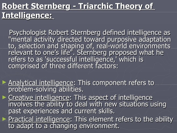 6 theories of intelligence The theory of multiple intelligences was developed in 1983 by dr howard gardner, professor of education at harvard university it suggests that the traditional notion of intelligence, based on iq testing, is far too limited.