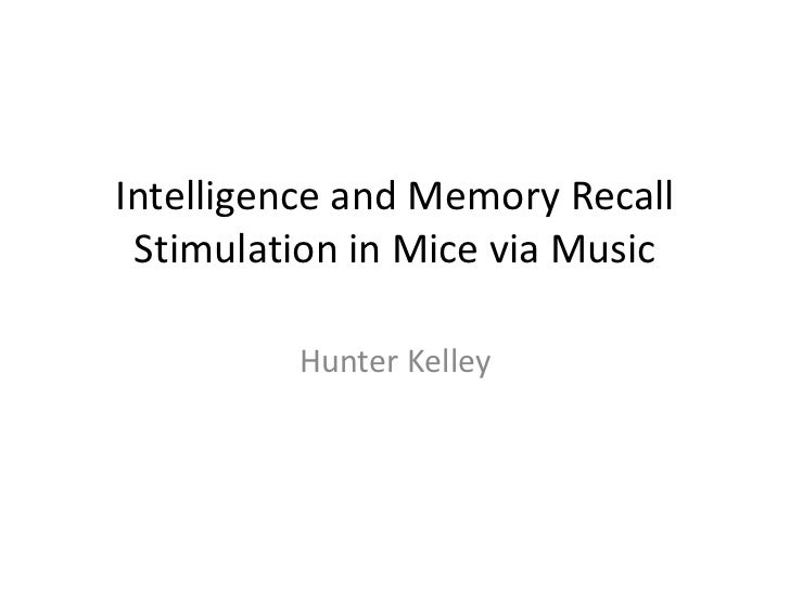 Intelligence and memory recall stimulation in mice via