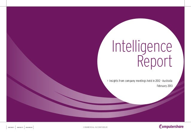 Intelligence                                                                     Report                                   ...