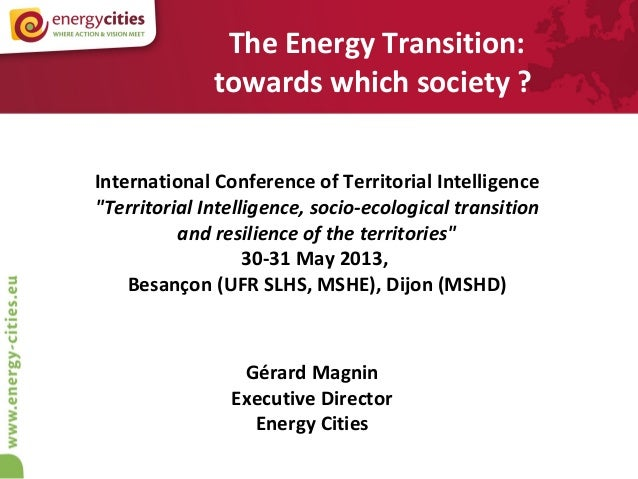 INTI 13 - Energy Transition for what Society ?