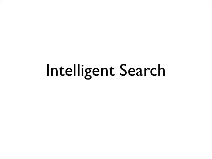 Intelligent Search