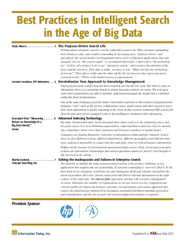 Intelligent search-in-the-age-of-big-data-may-2013 (Source: KM World)