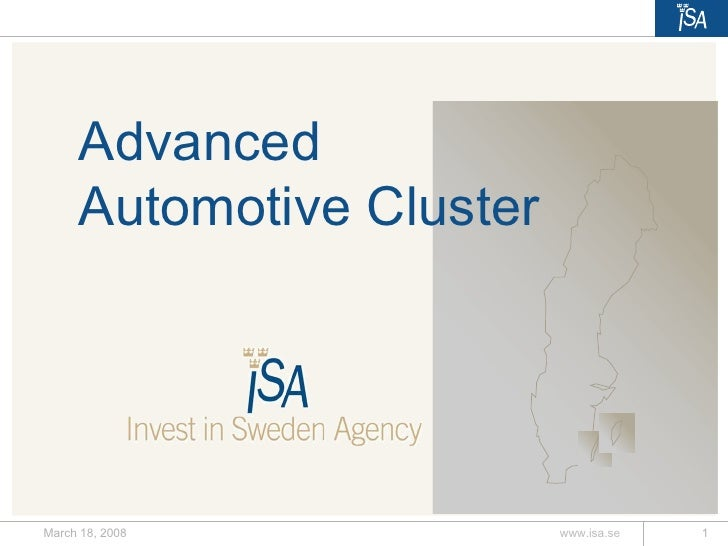 Intelligent Vehicle Cluster in Sweden